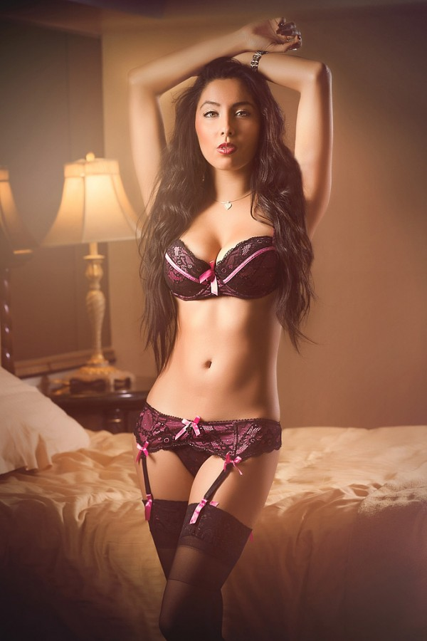 Brunette in lingerie - Sexy Boudoir Photography
