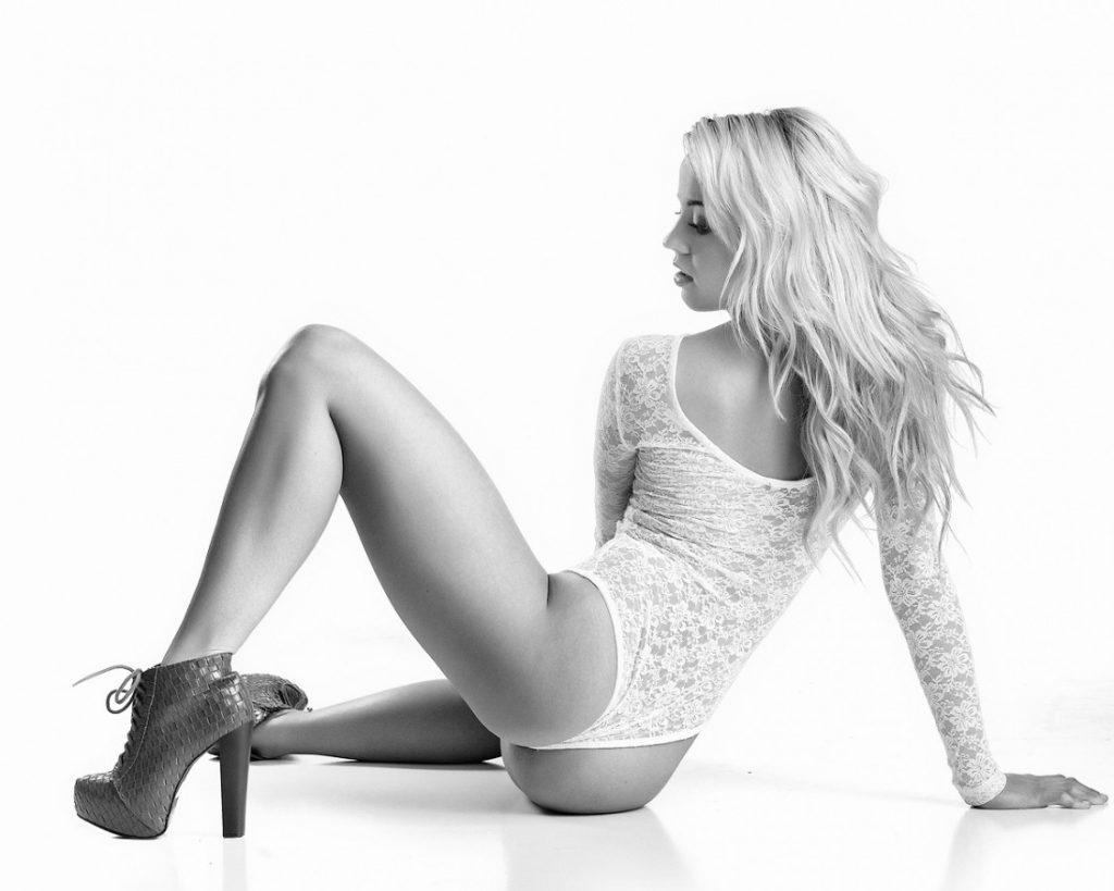 High Key White Boudoir Photography - Reno, NV