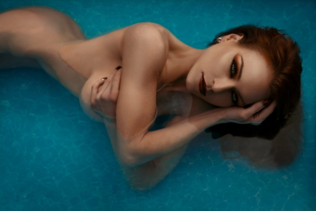 implied nude photography pool