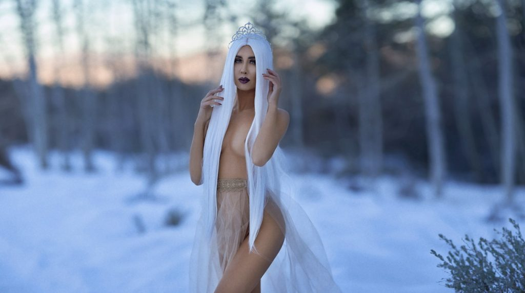 modeling portfolio snow shots