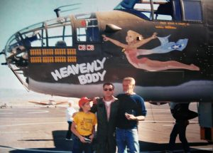 Me as a child with my Grandpa and the Pilot