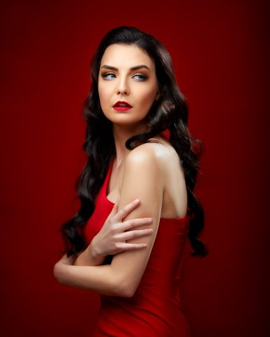 Red fashion photography